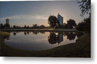 Metal Print featuring the photograph Hermann Park Sunrise by Joshua House