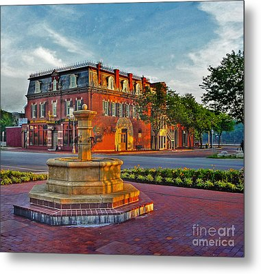 Hermannhof Festhalle Metal Print by William Fields