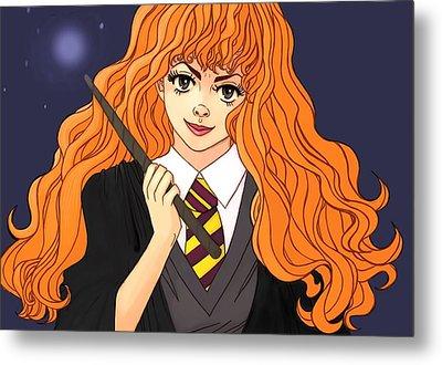Hermione Granger  Metal Print by Jennifer Campbell