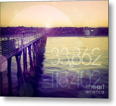Hermosa Beach California Metal Print by Phil Perkins