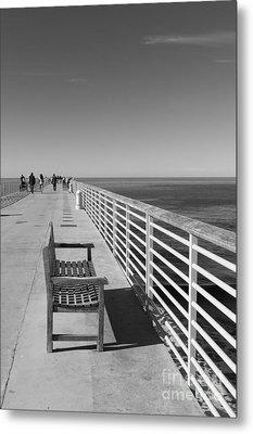 Hermosa Beach Seat Metal Print