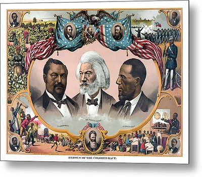 Heroes Of The Colored Race  Metal Print by War Is Hell Store