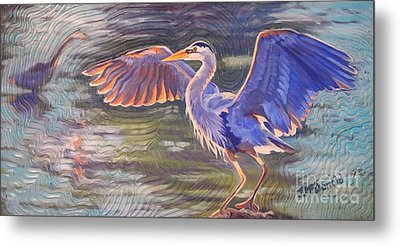 Heron Majesty Metal Print