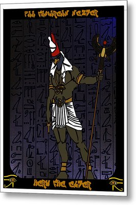 Heru The Elder Metal Print by Derrick Colter