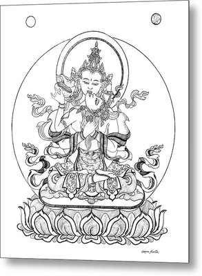Heruka-vajrasattva -buddha Of Purification Metal Print
