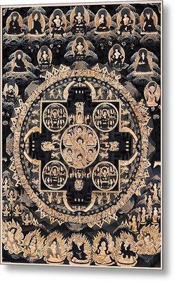 Heruka Yab Yum Mandala Metal Print