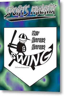 Hey Batter Batter Swing Metal Print by Maria Watt