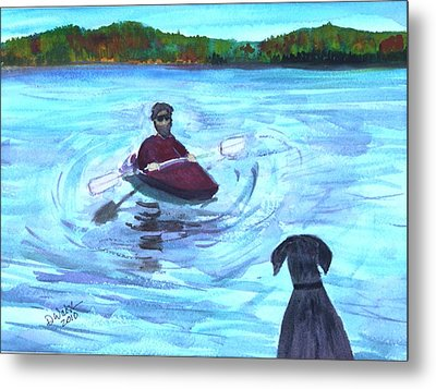 Metal Print featuring the painting Hey Where You Going  by Donna Walsh