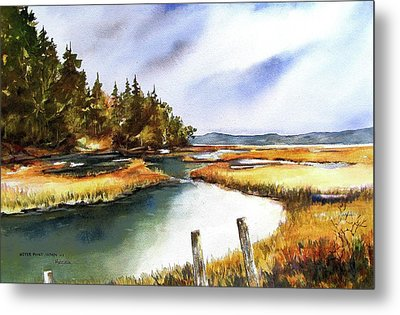 Metal Print featuring the painting Heyer Pt   Vashon Wa by Marti Green