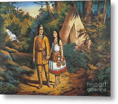 Hiawathas Wedding Metal Print by Granger