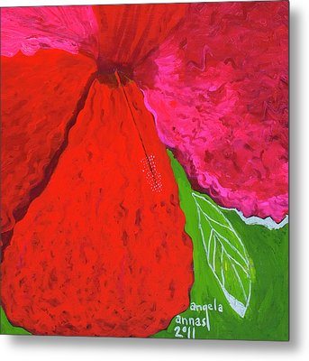 Hibiscus Closeup Metal Print