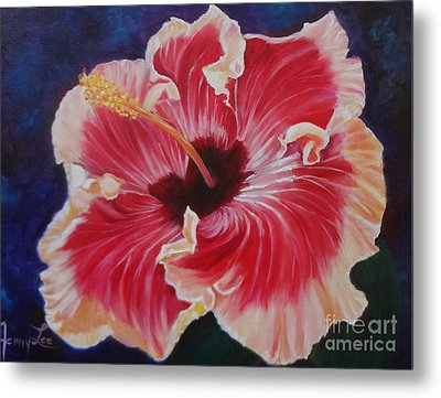 Metal Print featuring the painting Hibiscus by Jenny Lee