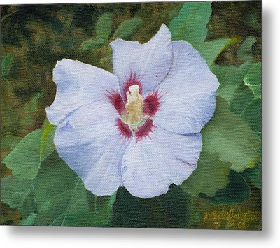 Metal Print featuring the painting Hibiscus by Joshua Martin
