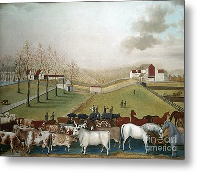 Hicks: Cornell Farm, 1848 Metal Print by Granger