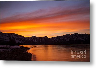 Hidden Beach Sunset Metal Print by Mitch Shindelbower