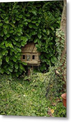 Hidden Birdhouse Metal Print