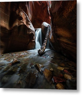 Hidden Canyon 2 Metal Print by Larry Marshall