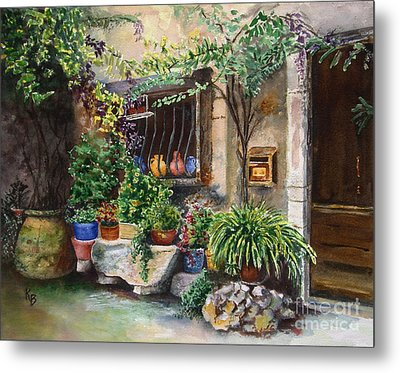 Hidden Courtyard Metal Print