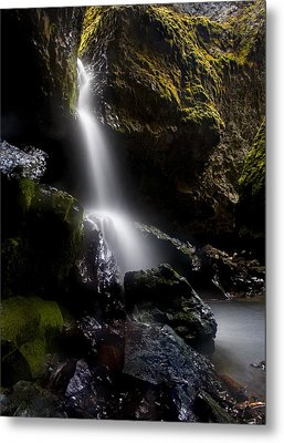 Hidden Falls Metal Print by Mike  Dawson