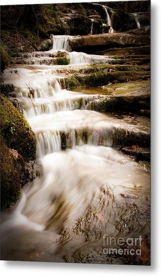 Hidden Falls Metal Print by Tamyra Ayles