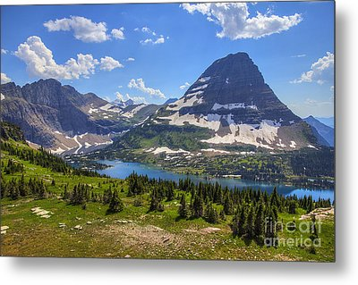 Metal Print featuring the photograph Hidden Lake And Bearhat Mountain by Spencer Baugh