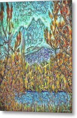 Hidden Lake Metal Print