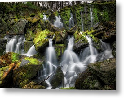 Metal Print featuring the photograph Hidden Mossy Falls by Bill Wakeley