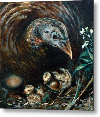 Metal Print featuring the painting Hidden Treasures by Suzanne McKee