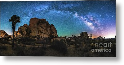 Hidden Valley Milky Way Panorama Metal Print