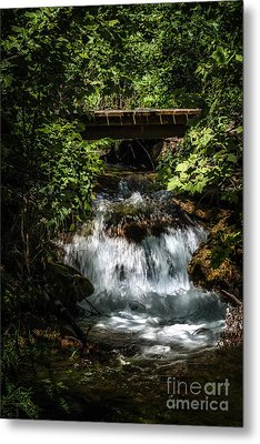 Hidden Waterfall At Chickasaw National Recreation Area Metal Print by Tamyra Ayles