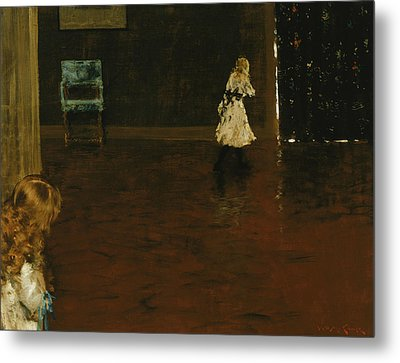 Hide And Seek Metal Print by William Merritt Chase
