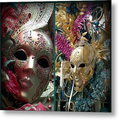 Metal Print featuring the photograph Hiding Double Trouble by Amanda Eberly-Kudamik