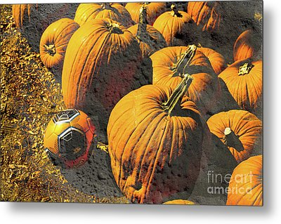 Hiding In Plain Pumpkin Metal Print