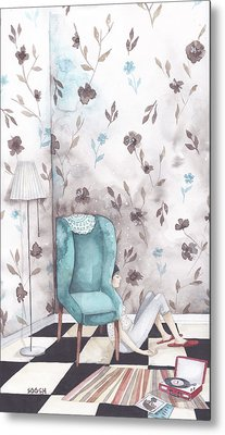 Hiding  Metal Print by Soosh