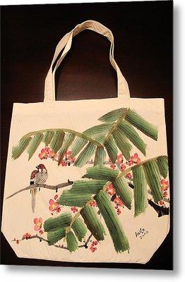 Hiding Under The Palm Tree Metal Print by Anita Lau