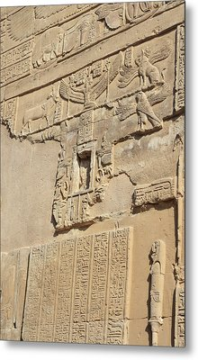 Metal Print featuring the photograph Hieroglyphic by Silvia Bruno