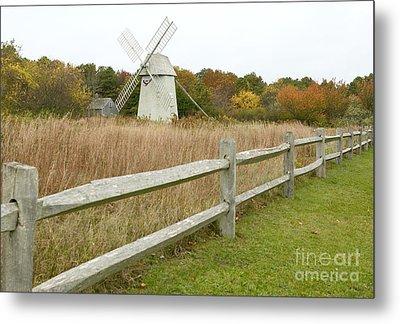 Higgins Farm Windmill Brewster Cape Cod Metal Print by Matt Suess