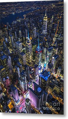 High Above The City Metal Print by Roman Kurywczak
