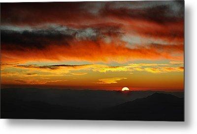 Metal Print featuring the photograph High Altitude Fiery Sunset by Joe Bonita