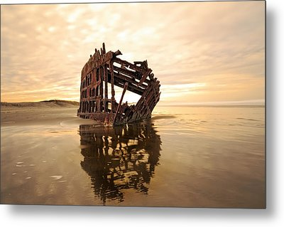 High And Dry, The Peter Iredale Metal Print