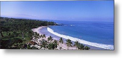 High Angle View Of A Beach, Mauna Kea Metal Print by Panoramic Images