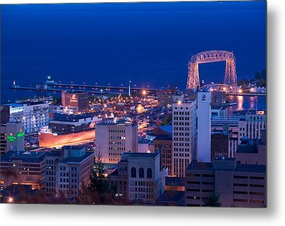 High Angle View Of A City, Canal Park Metal Print