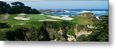High Angle View Of A Golf Course Metal Print by Panoramic Images