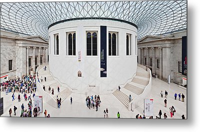High Angle View Of People At British Metal Print by Panoramic Images