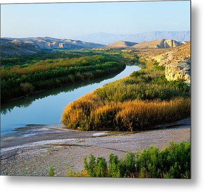 High Angle View Of Rio Grande Flood Metal Print by Panoramic Images