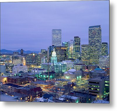 High Angle View Of The State Capitol Metal Print by Panoramic Images