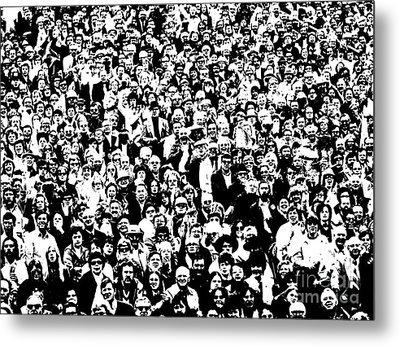 High Contrast Image Of Crowd, C.1970s Metal Print