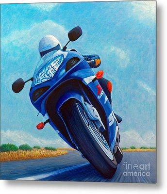 High Desert Pass - Suzuki Gsxr1000 Metal Print