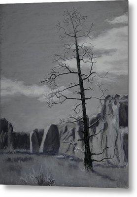 Metal Print featuring the painting High Desert Skeleton by Nancy Jolley