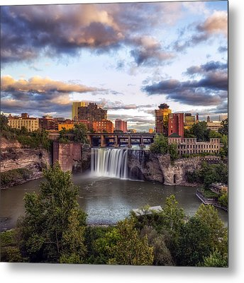 Metal Print featuring the photograph High Falls Crop by Mark Papke